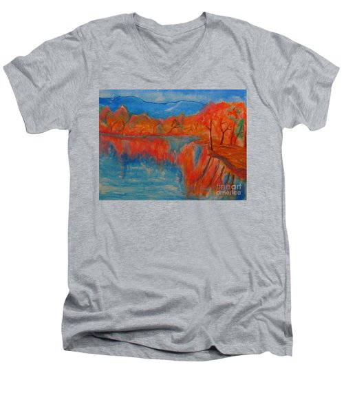 Lake Mirror Men's V-Neck T-Shirt