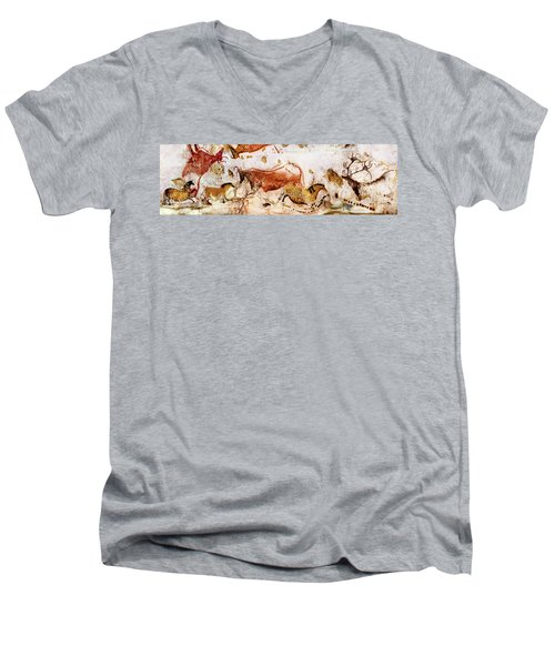 Lascaux Cows Horses And Deer Men's V-Neck T-Shirt