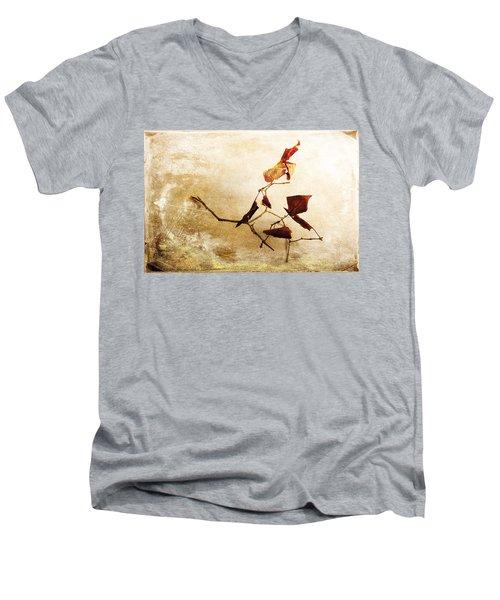 Men's V-Neck T-Shirt featuring the photograph Last Movement by Randi Grace Nilsberg