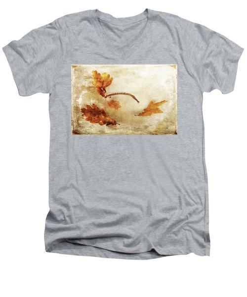 Men's V-Neck T-Shirt featuring the photograph Late Late Fall by Randi Grace Nilsberg