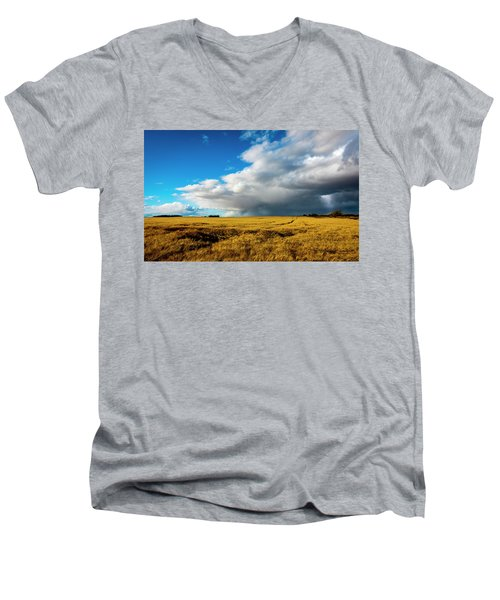 Late Summer Storm With Tornado Men's V-Neck T-Shirt