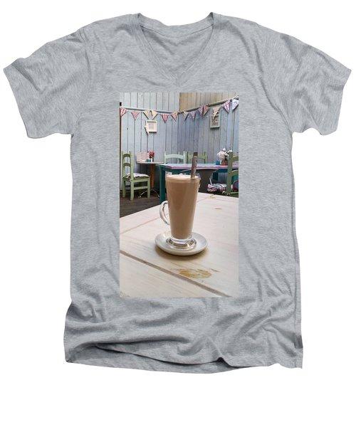 Latte Time Men's V-Neck T-Shirt