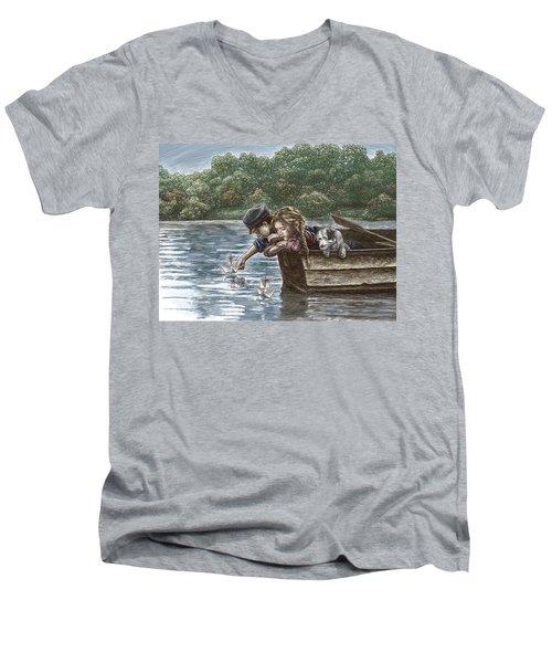 Launching Dreams Men's V-Neck T-Shirt