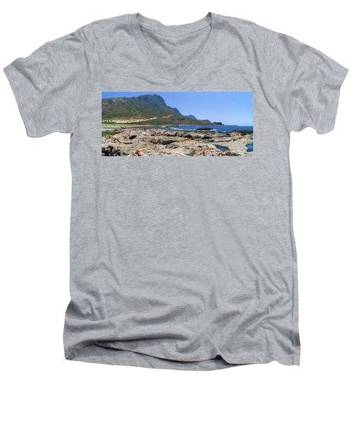 Lava Rocks Of Balos Men's V-Neck T-Shirt
