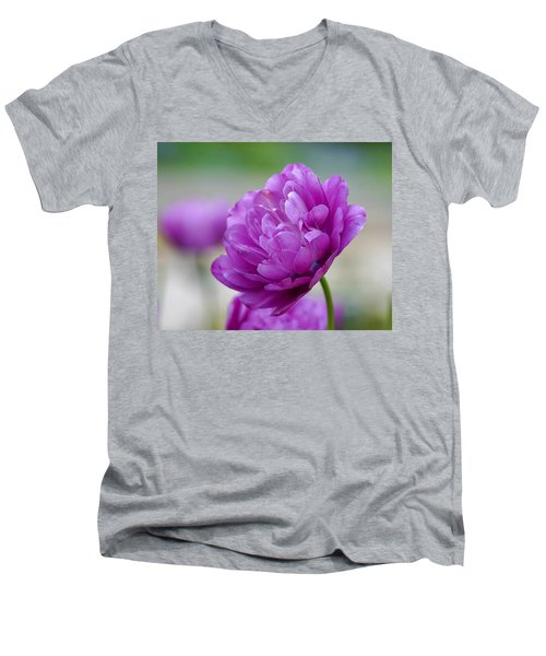 Lavender Tulip Men's V-Neck T-Shirt