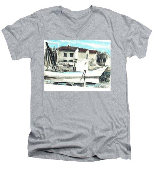 Le Barche Galleggianti Nel Mare Adriatico  Men's V-Neck T-Shirt