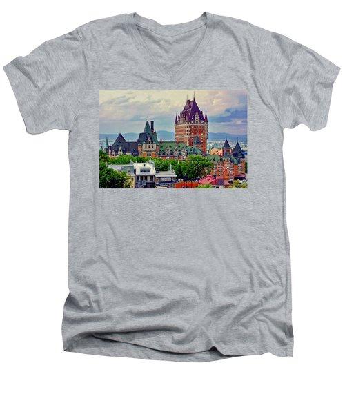 Le Chateau Frontenac Men's V-Neck T-Shirt