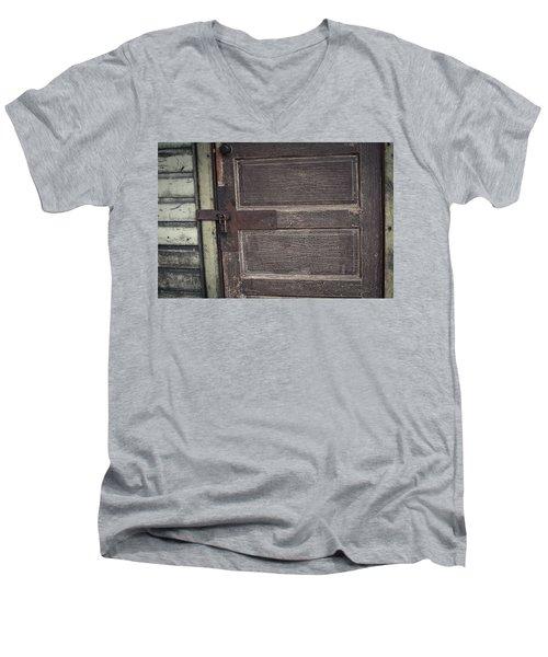 Leather Door Men's V-Neck T-Shirt
