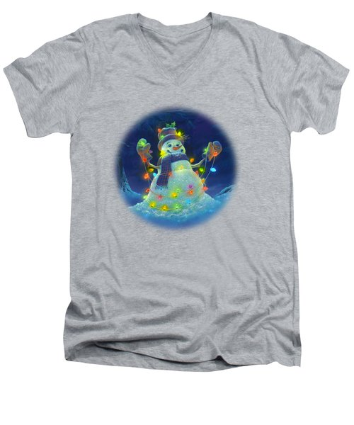 Let It Glow Men's V-Neck T-Shirt