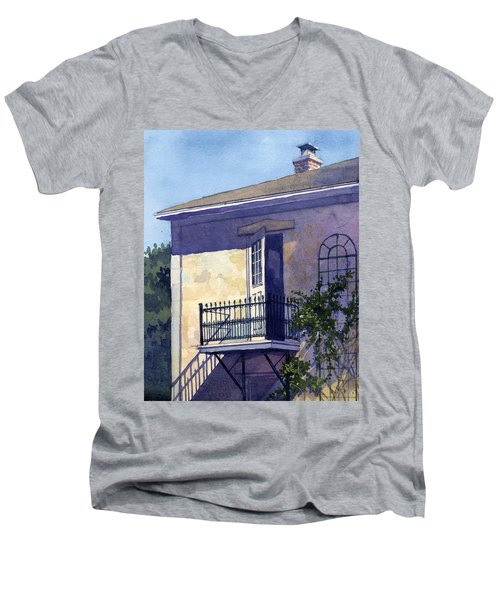Letting The Morning In Men's V-Neck T-Shirt