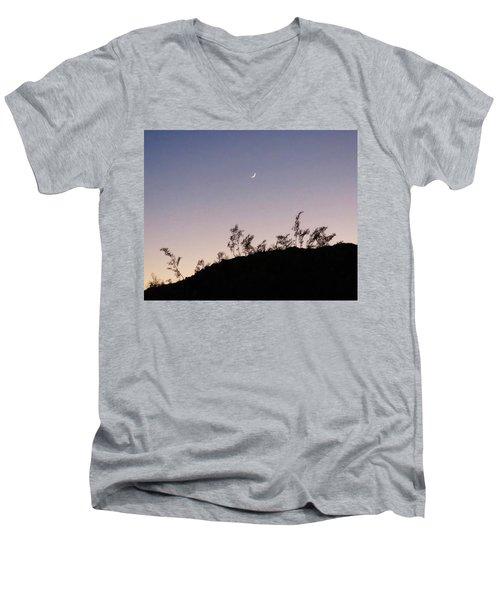 Libra Twilight Crescent Men's V-Neck T-Shirt
