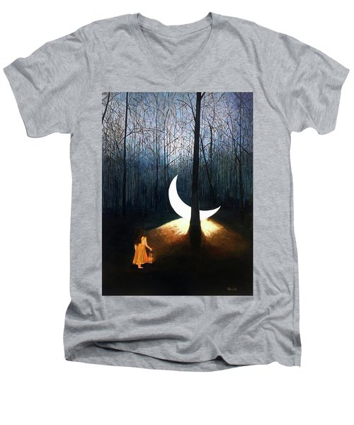 L'il Luna Men's V-Neck T-Shirt