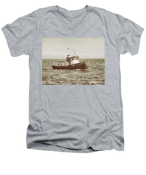 Lil Tugboat Men's V-Neck T-Shirt