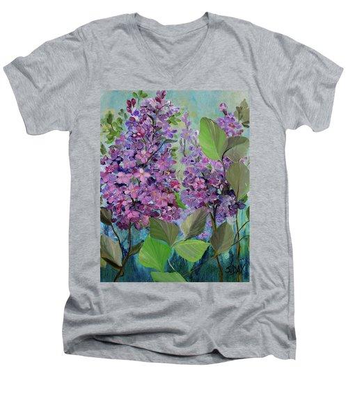 Lilac Love Men's V-Neck T-Shirt