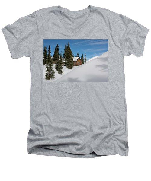 Little Cabin Men's V-Neck T-Shirt