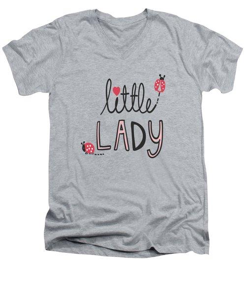 Little Lady - Baby Room Nursery Art Poster Print Men's V-Neck T-Shirt