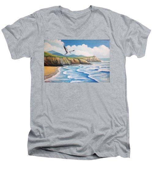 L'oiseau Solitaire Men's V-Neck T-Shirt