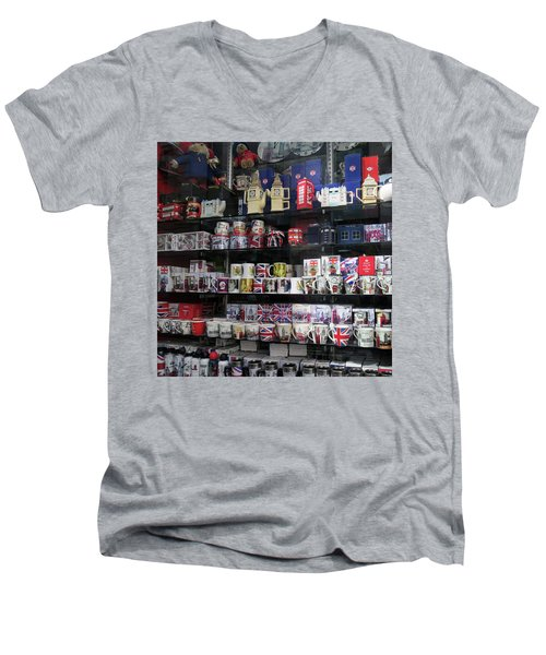 London England Shop Window Men's V-Neck T-Shirt