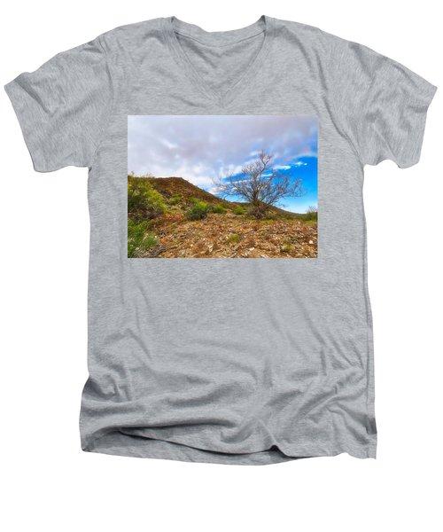 Lone Palo Verde Men's V-Neck T-Shirt