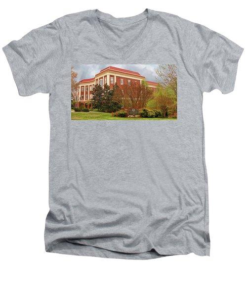 Chichester Hall At Longwood University Farmville Virginia Men's V-Neck T-Shirt