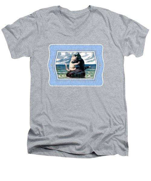 Love On The Rocks Men's V-Neck T-Shirt