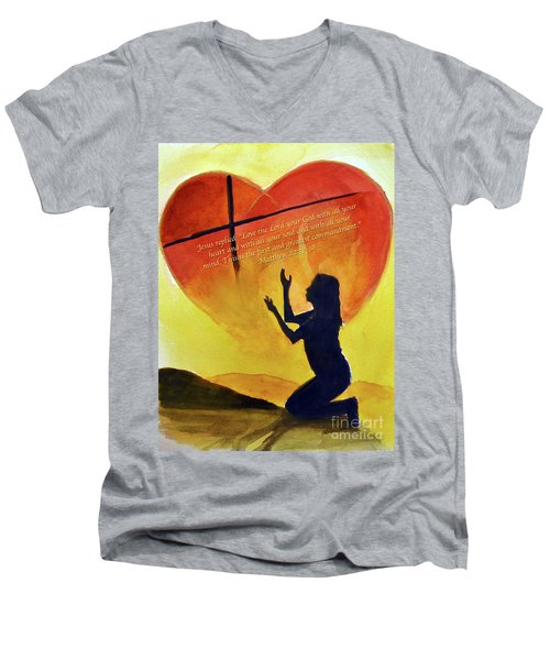 Love The Lord Men's V-Neck T-Shirt