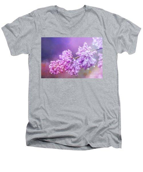 The Magic Of Lilacs In The Rain Men's V-Neck T-Shirt