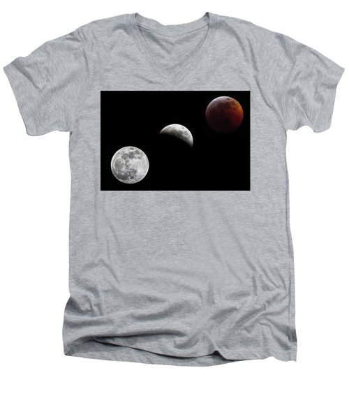 Lunar Eclipse Men's V-Neck T-Shirt