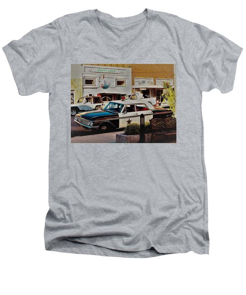 Lunch At Snappy Men's V-Neck T-Shirt