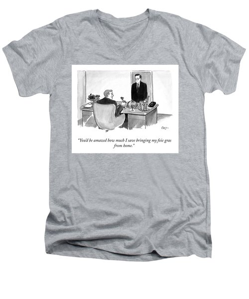 Lunch From Home Men's V-Neck T-Shirt