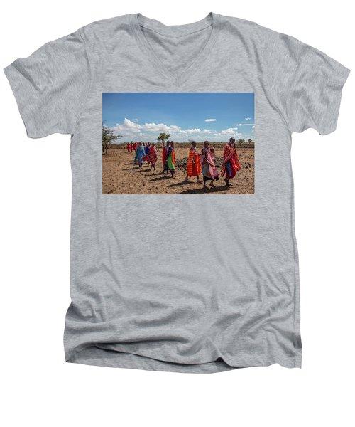 Maasi Women Men's V-Neck T-Shirt
