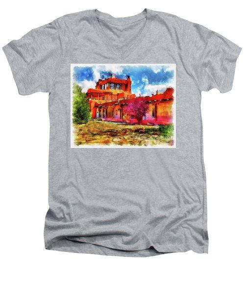 Mabel's Courtyard In Aquarelle Men's V-Neck T-Shirt