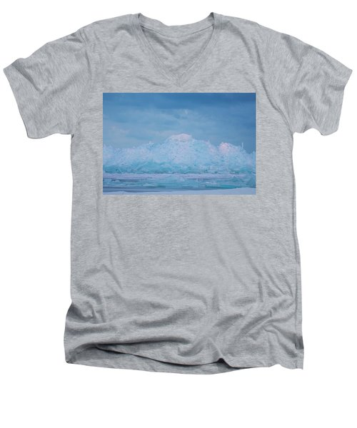 Mackinaw City Ice Formations 2161802 Men's V-Neck T-Shirt