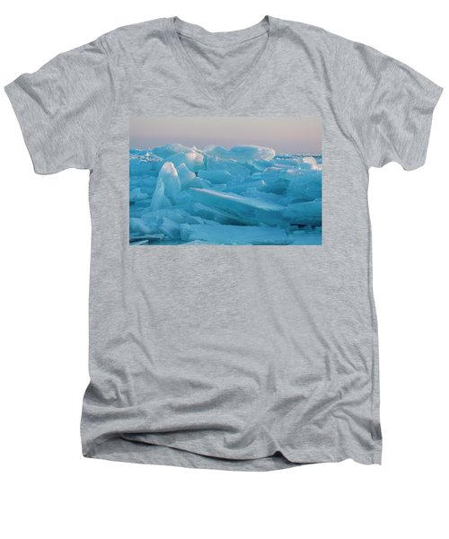 Mackinaw City Ice Formations 2161807 Men's V-Neck T-Shirt