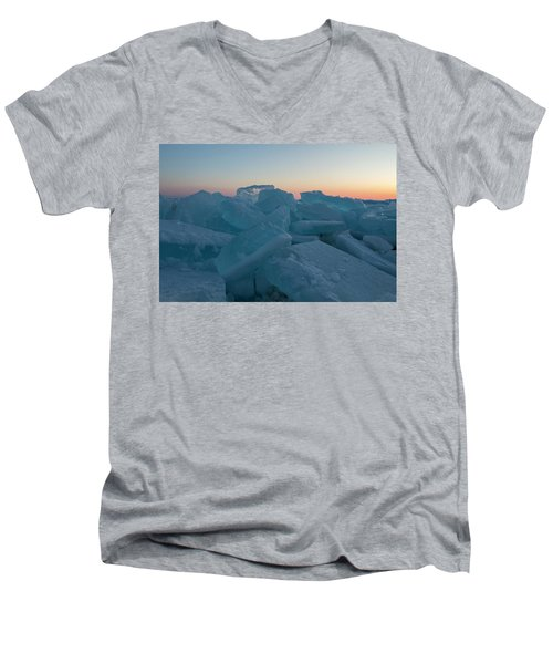 Mackinaw City Ice Formations 2161808 Men's V-Neck T-Shirt