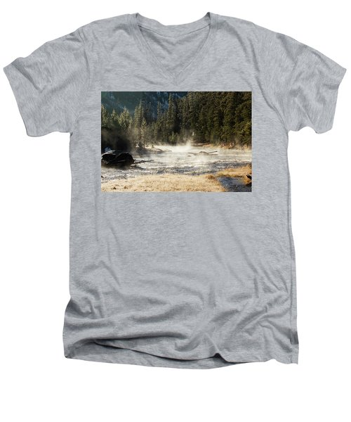 Madison River Morning Men's V-Neck T-Shirt
