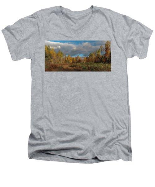 Maine Wilderness Color 2 Men's V-Neck T-Shirt
