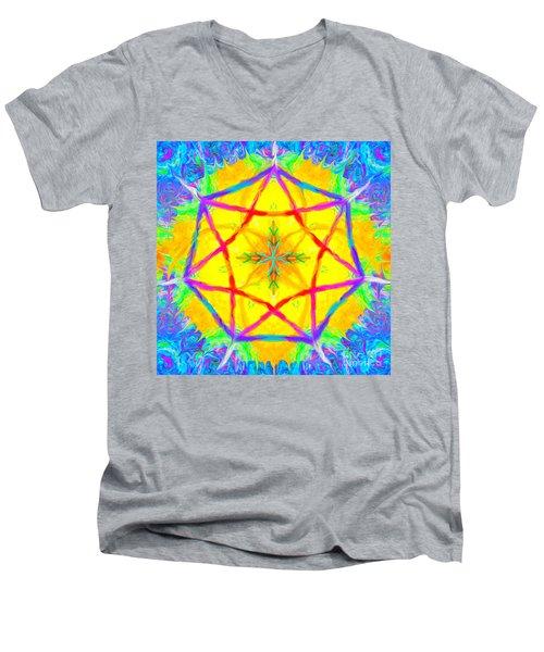 Mandala 12 9 2018 Men's V-Neck T-Shirt
