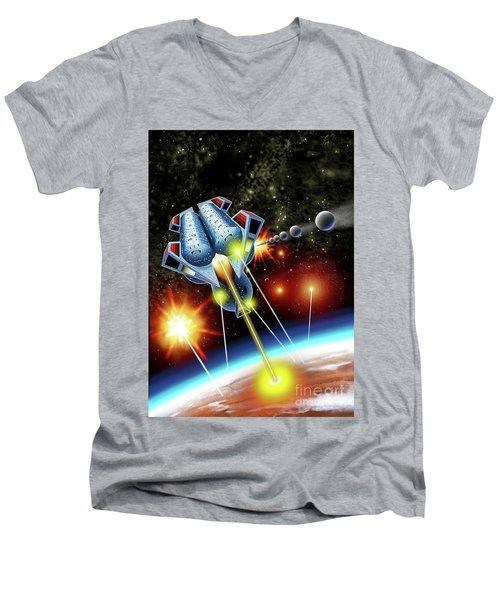 Mangle Atacks Nisip Men's V-Neck T-Shirt