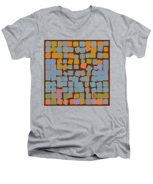 Men's V-Neck T-Shirt featuring the digital art Maple by Attila Meszlenyi