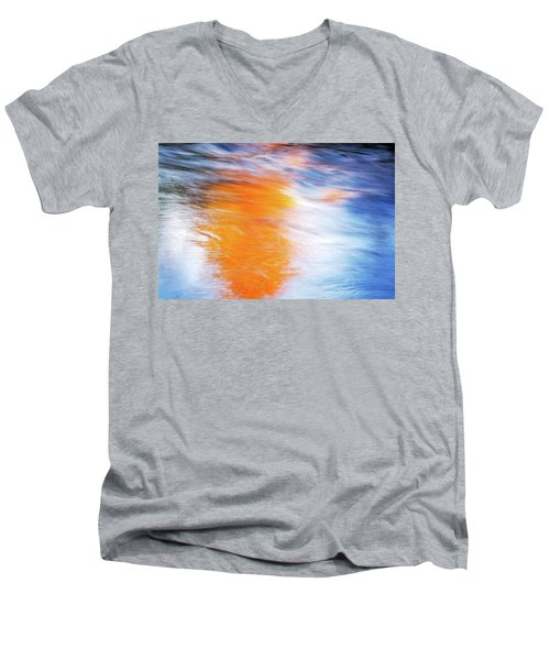 Maple Reflection Fall Men's V-Neck T-Shirt