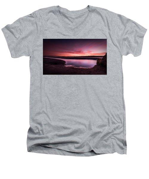 Marazion Sunset Men's V-Neck T-Shirt