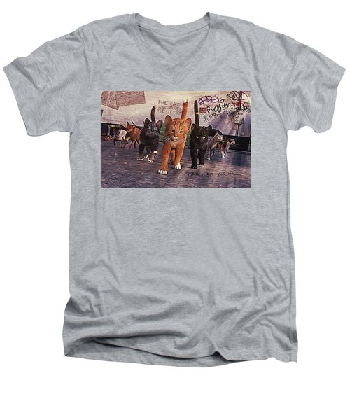 March Of The Mau Men's V-Neck T-Shirt