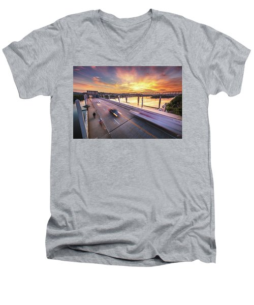 Market Street Commuters Men's V-Neck T-Shirt