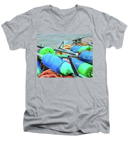 Marks The Spot Men's V-Neck T-Shirt