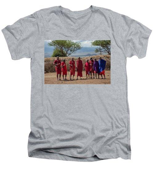 Maasai Men Men's V-Neck T-Shirt