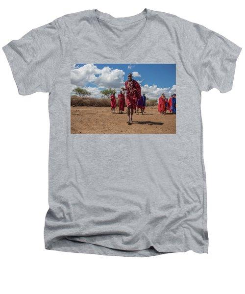 Maasai Welcome Men's V-Neck T-Shirt