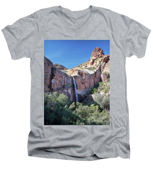 Massacre Trail Waterfall Men's V-Neck T-Shirt