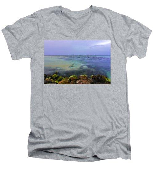 Mayan Sea Rocks Men's V-Neck T-Shirt