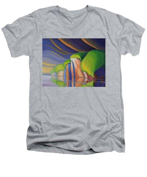 Mazinaw Rock I Men's V-Neck T-Shirt
